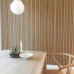 Dining room Natural Oak sound dampening Akupanel