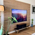 TV and Akupanel Classic Oak grey